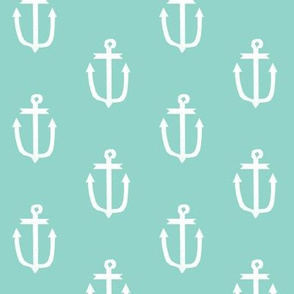 mint anchors nautical ocean fabric mint fabric anchors coordinate simple anchor fabric