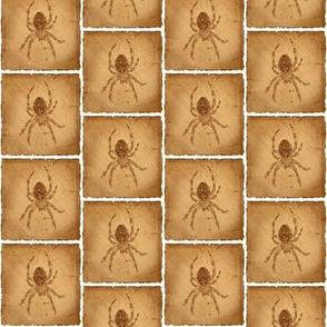 Female Barn Spider Silhouette Blocks - Vers. 2