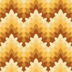 leafy zigzag : xmas gold