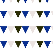reservedonly modern triangle bunting