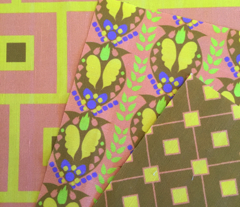 Peach Gold Periwinkle Lime Paisley_Miss Chiff Designs
