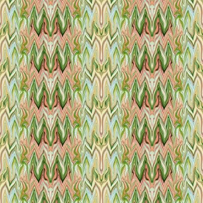 Tearful Ogre Bargello, Peach, Beige, Green, small