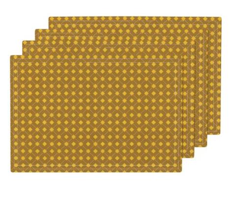 Diagonal Gold Peach Geometric