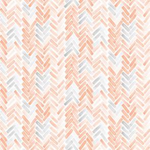 gray blush watercolor herringbone