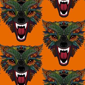 wolf fight flight orange