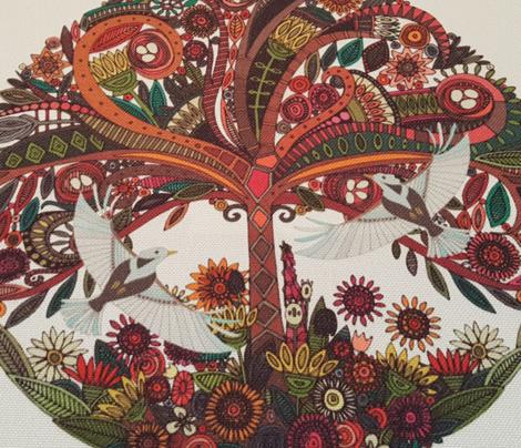 tree of life white swatch