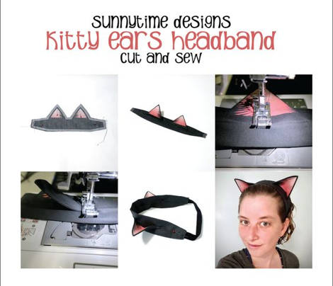 Kitty Ears Cut n Sew
