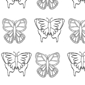 Butterfly 3- Coloring Design