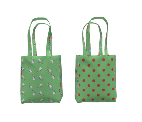 Polka Dot Lucy's Red and Green