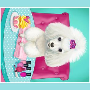 Poodle Cupcake Panel