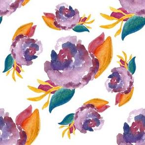 Purple Autumn Scattered
