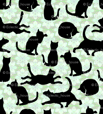 Rblack_cats_on_mint_green_flowers_preview