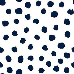 navy blue dots painted dot dots fabric navy dot fabric navy dots fabric