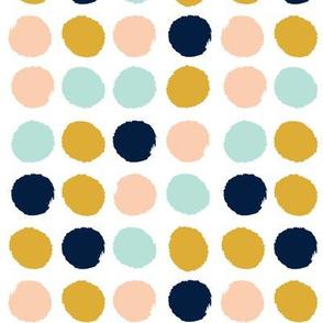 dots gold navy peach mint dots fabric dot fabric peach fabric