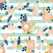 stripes flowers florals flower fabric nursery fabric nursery florals design girls peach flowers les fleurs fabric