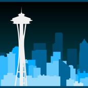 Enormous Seattle Skyline & Space Needle