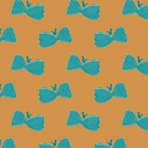 Bowtie Butterflies on #d1934a