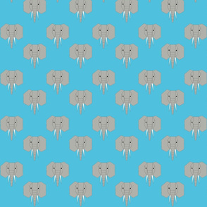 Geometric Elephant Blue