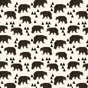 geo bear // mini geometric bear kids bear nursery bear print andrea lauren fabrics andrea lauren fabric andrea lauren design