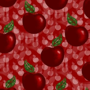 RED APPLES ON RED