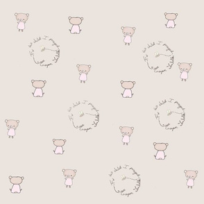 Pink baby bear custom  Harper Isabella