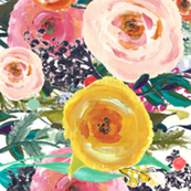 Cindi's Floral Watercolor Border (Extra Large)
