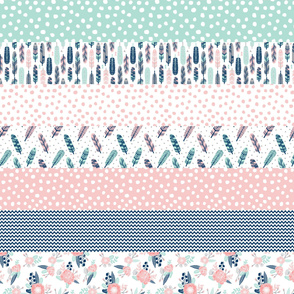 stripes cheater quilt feather quilt girls fabric cute girls navy blue fabrics cheater quilt