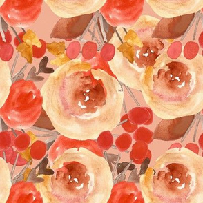 Autumn Layered Watercolor Floral