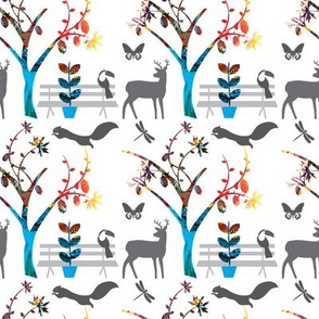 Animal Party Tree_white