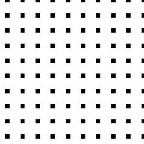 black + white squares