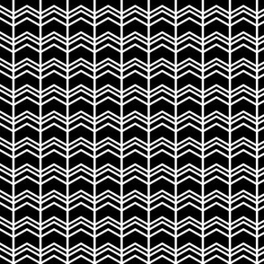 black + white chevron zigzags reversed
