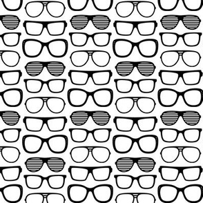 sunglasses » black + white no.2