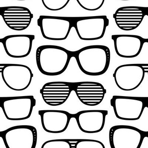 sunglasses LG » black + white no.2