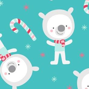 polar bears LG :: colorful christmas