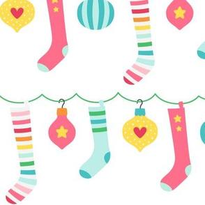 stockings LG :: colorful christmas