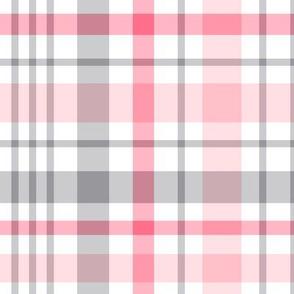 pink + grey plaid 2 XL