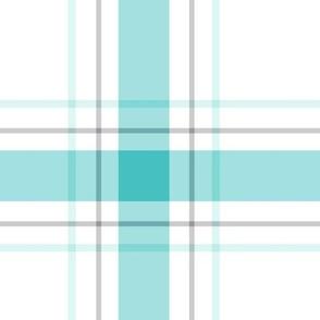 teal + grey plaid 1 XL