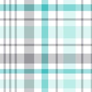 teal + grey plaid 2 XL