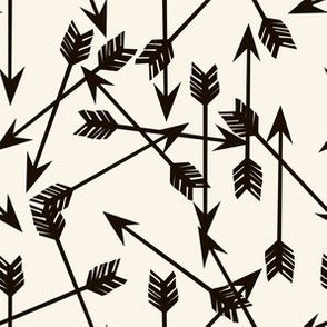 arrows to match geo bear // cream and black/brown kids cute arrows