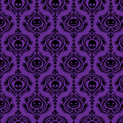 Halloween Damask Purple