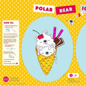 Polar Bear Ice Cream Pillow – Egg Shape