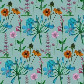 Summer garden - blue