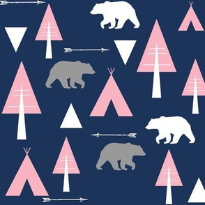 bear camp // coral on midnight