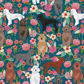poodles fabric cute florals floral fabrics for dog lovers poodle owners will love this poodle fabric
