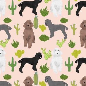 poodle cactus blush pink cute poodle design best poodle fabrics poodle cactus cacti fabric poodles