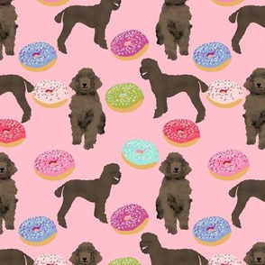 pink poodle  donut fabric cute pink poodles sweet dogs standard poodle fabric funny dogs fabric cute dog design