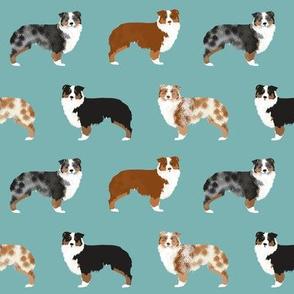 australian shepherds dogs cute blue merle dog red merle aussie dog fabrics cute fabric design