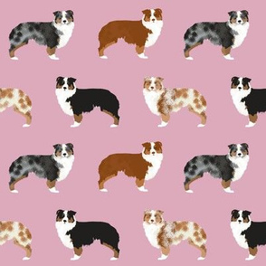 australian shepherd dogs cute pink dog breed fabric aussie owners will love this fabric cute holiday dog lovers gift