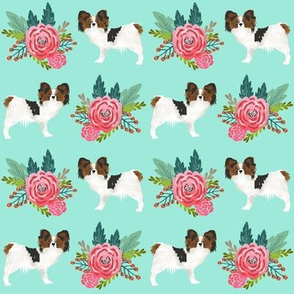 papillon dog fabric florals cute mint flower dogs best papillon dog designs cute papillons