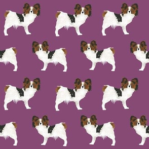 papillon dog toy spaniel dog fabric cute purple dog fabric purple papillons cute dog design